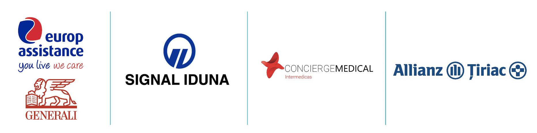Companii de asigurari partenere - Signal Iduna, Europ Assitance Generali, Tiriac // Artro Sport Clinic